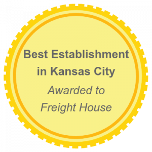 Best Establishment award Freight House